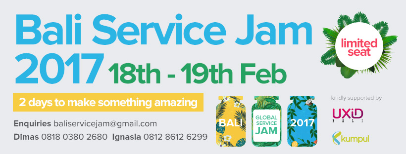 Let's Jam with us at Bali Service Jam 2017!