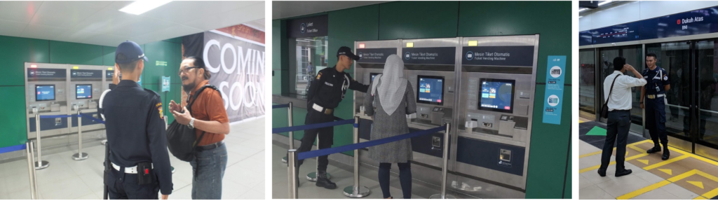 Helpful staffs. MRT Staffs politely help customers understand how to use MRT for the first time and navigate their way.